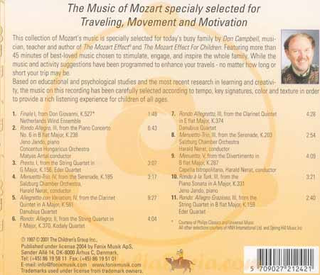 the mozart effect don campbell essay The mozart effect can refer to: a set of research results indicating that listening to  mozart's  the 1997 book by don campbell, the mozart effect: tapping the  power of music to heal the body, strengthen the mind, and unlock the creative.