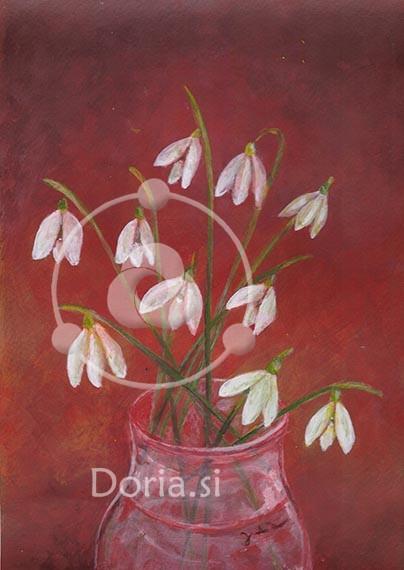 Zvončki - Snowdrops (slika - painting)