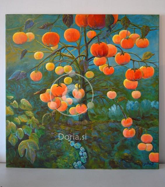 Kaki drevo - Kaki Tree (slika - painting)