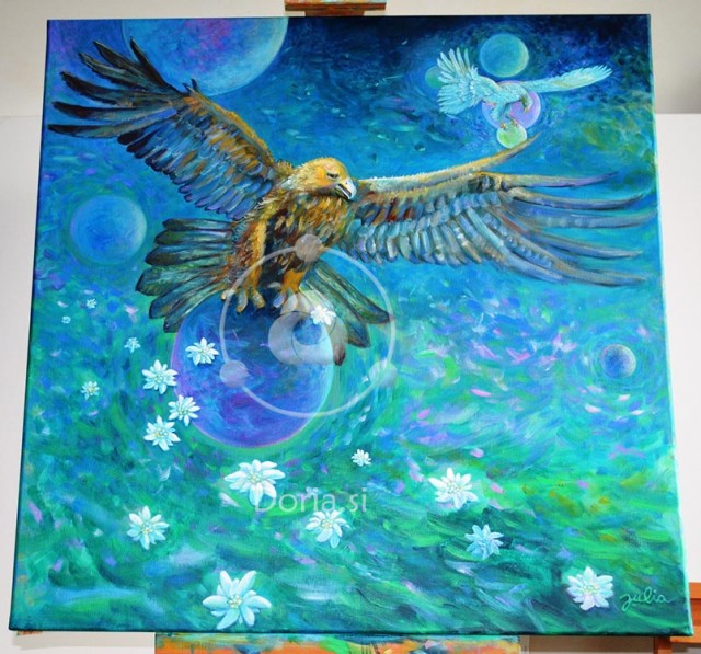 Leteti kot orel - Fly Like an Eagle (slika - painting)