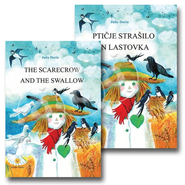 Dvojezični komplet slikanic Ptičje strašilo in lastovka & The scarecrow and the swallow (2 knjigi)